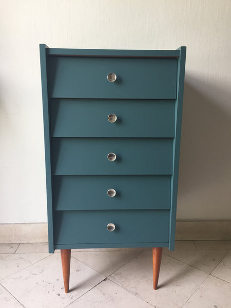 Commode vintage 5 tiroirs
