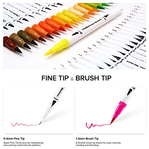 Ohuhu Art Markers Dual Tips Coloring Brush Fineliner Color Pens 60 Co Usbuybuy