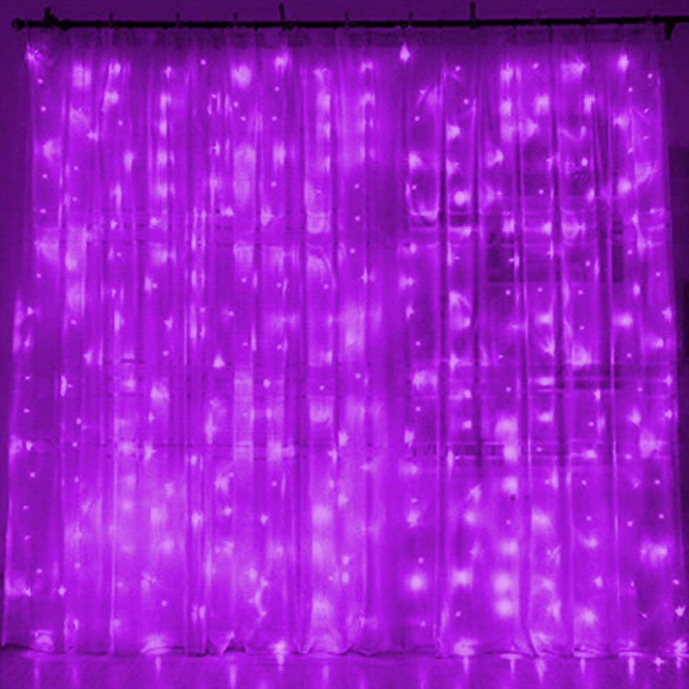 Twinkle Star 300 Led Window Curtain String Light With Remote Control Garden Timer For Wedding Party Home