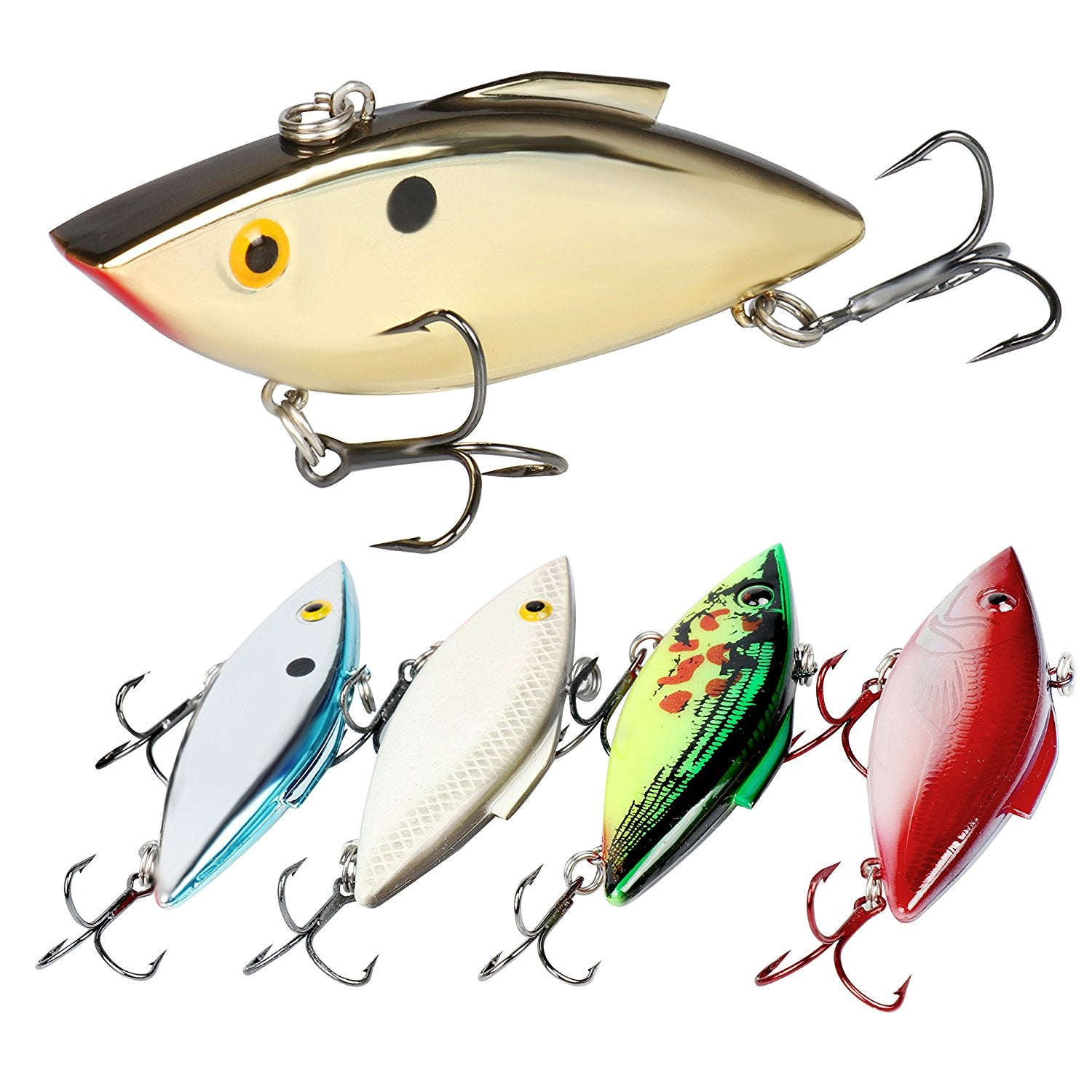 L1F3 HOT Rattles Wobbler Crank Bait Fishing Lures Hooks Tackle C1D6 Crankbait 7