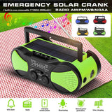 Solar/Hand Powered Emergency AM/FM Radio - [Do_More_Outdoor]