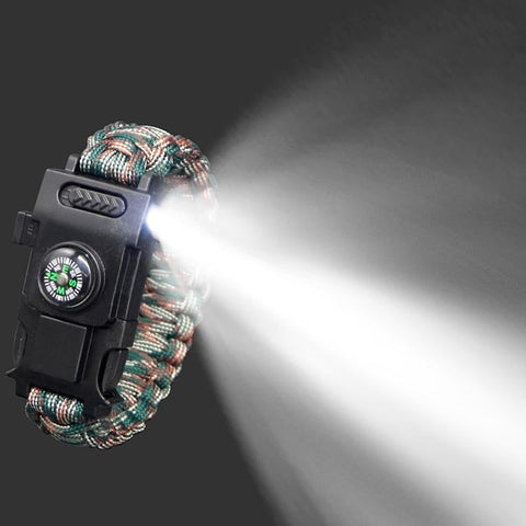 LED multi-function Paracord Bracelet - [Do_More_Outdoor]