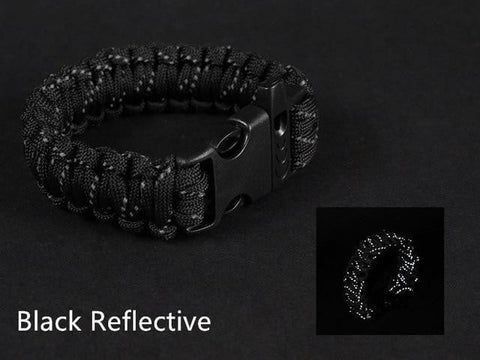 Reflective Paracord Bracelet with Whistle - [Do_More_Outdoor]