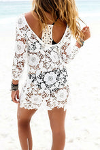 Load image into Gallery viewer, Lace Round Neck Hollow Out Cover Ups