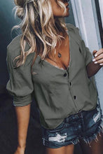 Load image into Gallery viewer, Deep  V  Neck   Plain  Casual   Blouses