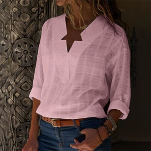 Sexy V Neck Pure Color Blouses