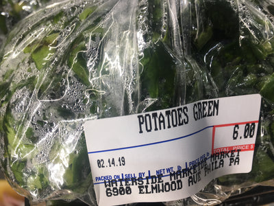 Fresh Potatoes Greens
