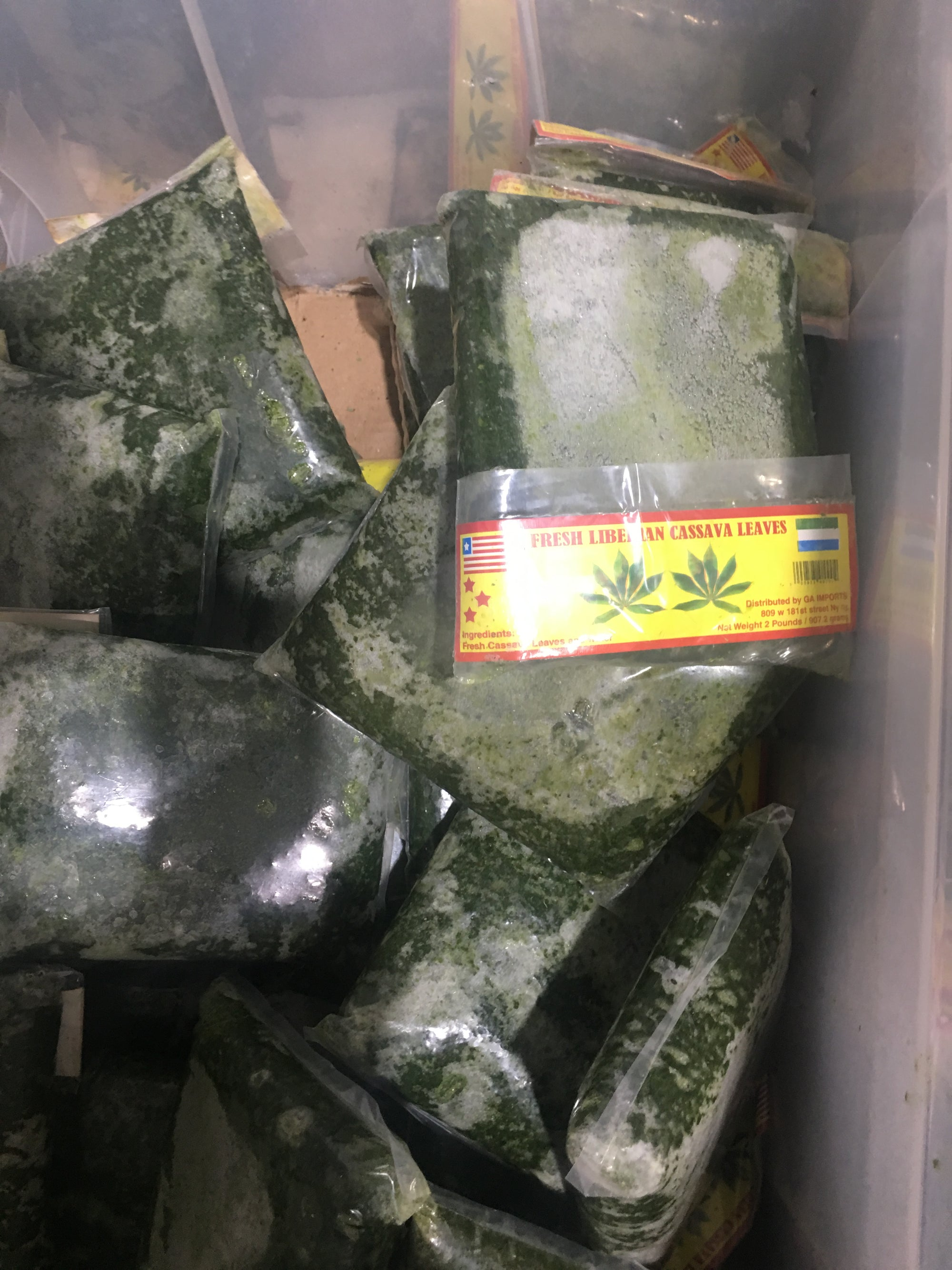 Cassava Leaves ( frozen)