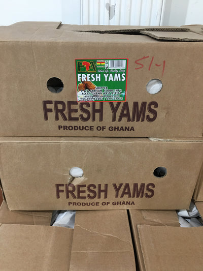 Fresh Yam - Box 50 Pounds