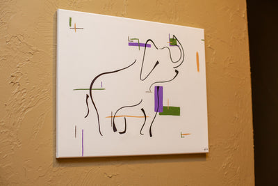 Asian Elephant Canvas