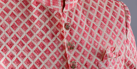 Red indo western in lucknowi with mirror work - Shreeman