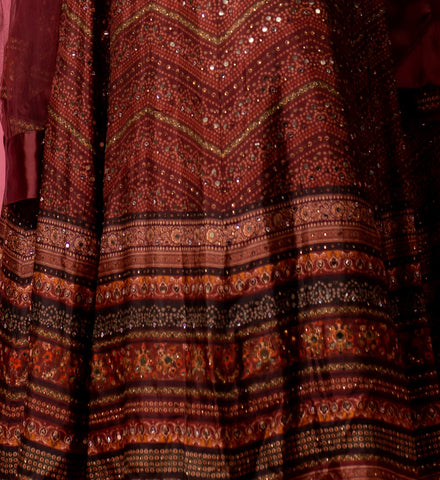 Brown Modal One Piece Gown with Leggings - Shreeman