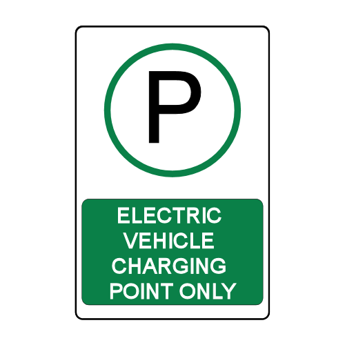 Custom Electric Vehicle Stall Signage Charging Point