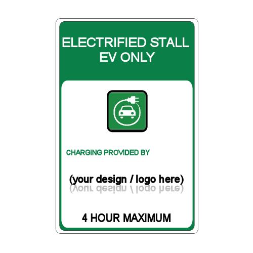 Custom Electric Vehicle Stall Signage Electrified Stall
