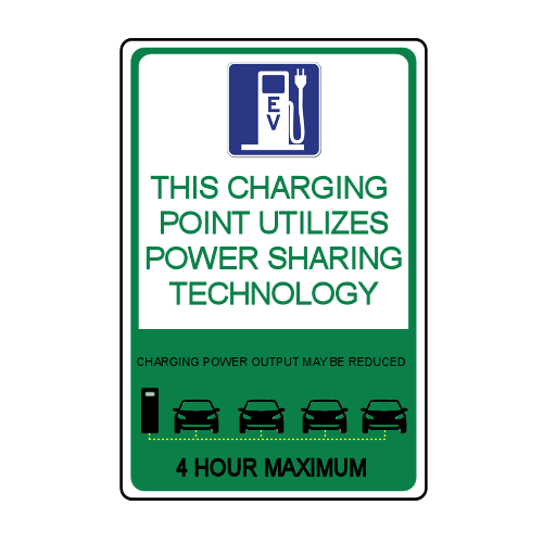 Custom Electric Vehicle Stall Signage Load Sharing