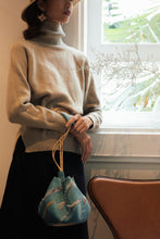 Load image into Gallery viewer, Reflective Pace - Resort 2020, Eco luxury, Sunset Boulevard evening bag, hand bag, eco linen