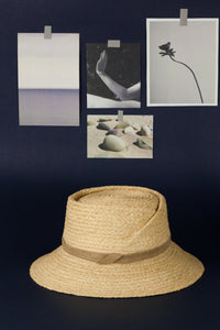 Audrey hat, Fedora hat, Reflective Pace - Resort 2020, Raffia hat, eco luxury