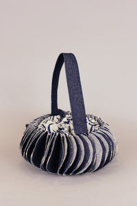 Round Lantern lunch bag, Everyday cool objects, Refinity by Leinné, Upcycled Fabrics, Eco luxury
