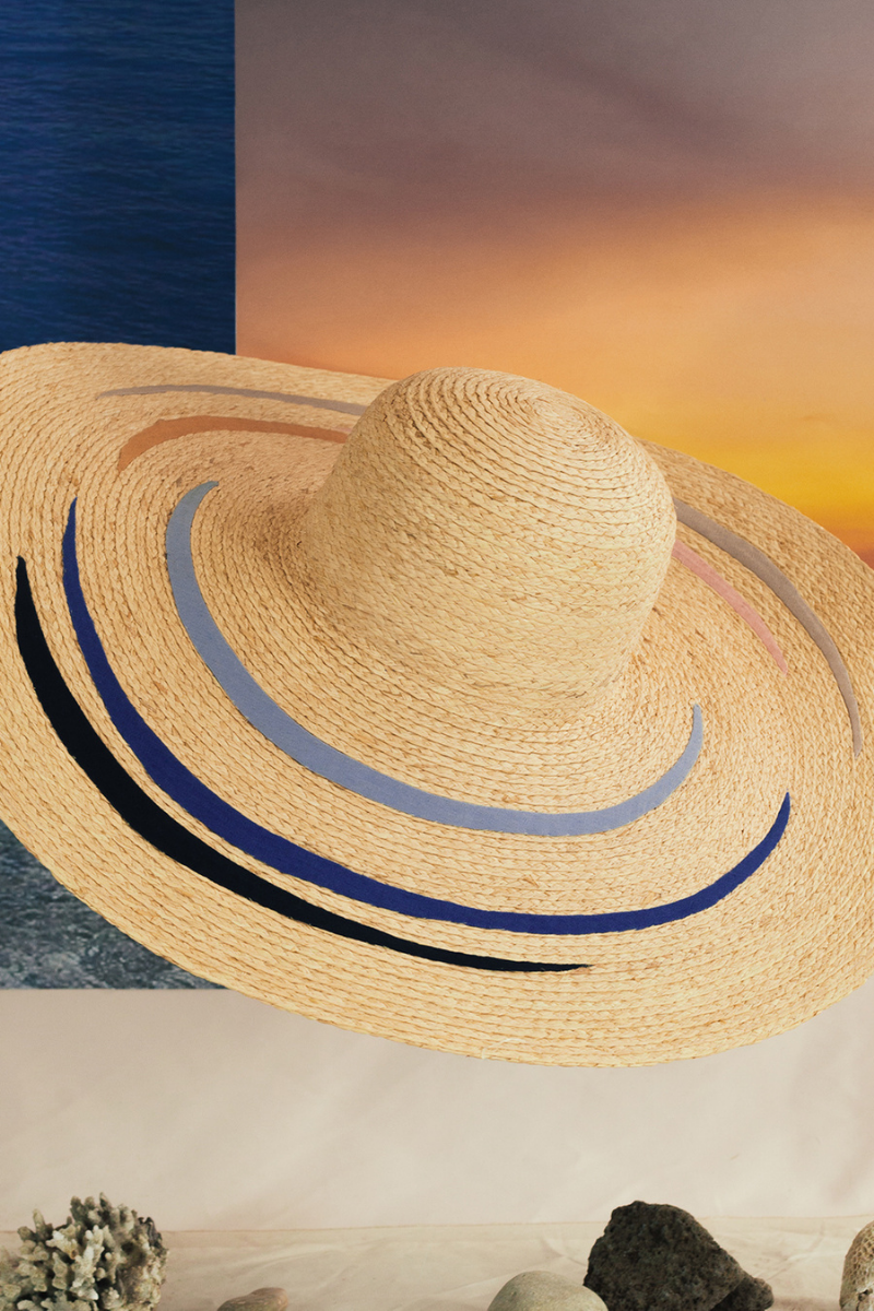 Serencio hat, Formscape, Raffia hat, Eco-luxury