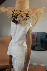 Soleil hat, Sun hat, Reflective Pace - Resort 2020 Raffia hat, Wide brim hat, Eco luxury