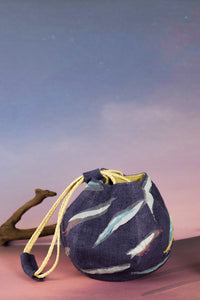 Reflective Pace - Resort 2020, Eco luxury, Sunset Boulevard evening bag, hand bag, eco linen