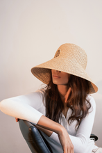 Load image into Gallery viewer, Sandra hat, Raffia hat, eco luxury