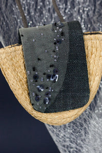 Reflective Pace - Resort 2020, Eco luxury, Thinking of the stars micro bag, eco linen, Raffia bag