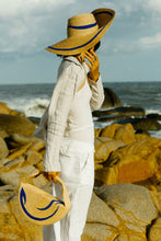 Load image into Gallery viewer, Formscape collection, Raffia and recycled cotton bag, Eco Luxury, Wave hat