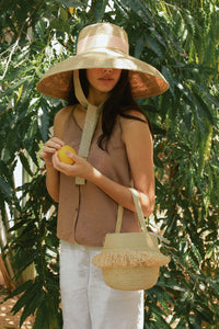 Bucket Simon bag, Jardin D'été, Eco Luxury, Raffia bag