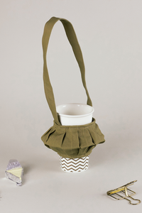 Canarium Lantern portable cup holder, Everyday cool objects, Refinity by Leinné, Upcycled Fabrics, Eco luxury