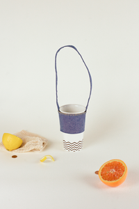 Portable cup holder, Everyday cool objects, Refinity by Leinné, Upcycled Fabrics, Eco luxury