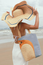 Load image into Gallery viewer, Wave hat, Formscape, Raffia hat, Eco-luxury, Leinné hat