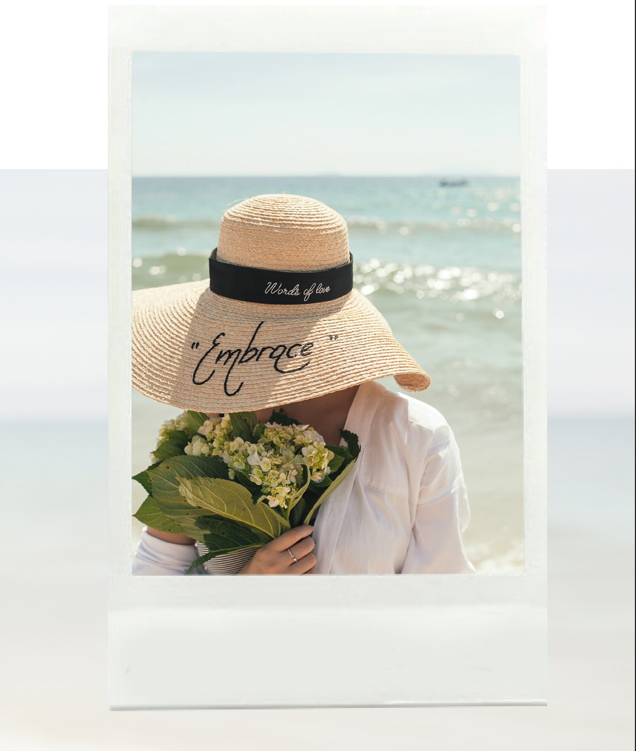 words_of_love_embrace_hat_with_beach_and_flower_-_leinne
