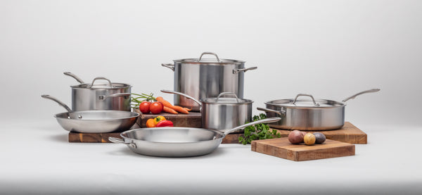 15 piece stainless steel cookware by kitchara