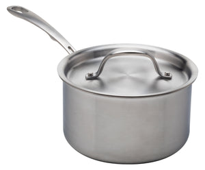 Stainless Steel Saucepan, 2 Quart