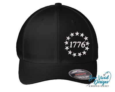 1776 Betsy Ross Flag Hat Fitted FLexfit