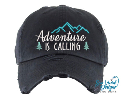 Adventure is Calling Baseball Cap OR Ponytail Hat - Sew Vivid Designs