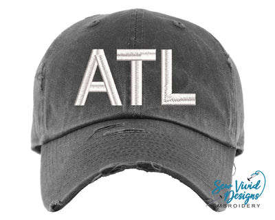 Airport Code Baseball Cap OR Ponytail Hat - Sew Vivid Designs