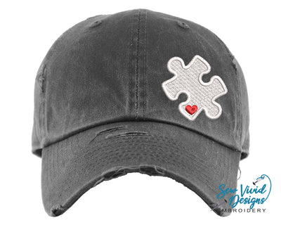 Autism Puzzle Baseball Cap OR Ponytail Hat - Sew Vivid Designs