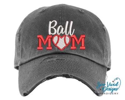 Ball Mom 2 Hat | Baseball Cap OR Ponytail Hat - Sew Vivid Designs