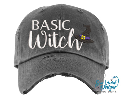 Basic Witch Hat | Baseball Cap OR Ponytail Hat - Sew Vivid Designs