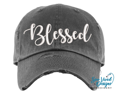 Blessed Hat 2 | Baseball Cap OR Ponytail Hat - Sew Vivid Designs