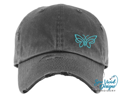 Butterfly Hat | Baseball Cap OR Ponytail Hat - Sew Vivid Designs