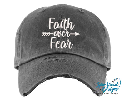Faith Over Fear Hat | Baseball Cap OR Ponytail Hat - Sew Vivid Designs