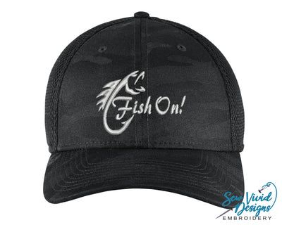 Fish On! New Era Fitted Hat - Sew Vivid Designs