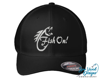 Fish On! FlexFit Fitted Hat - Sew Vivid Designs