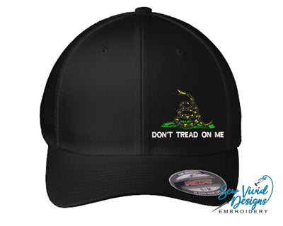 Gadsden Flag w/ Don't Tread on Me FlexFit Hat - Sew Vivid Designs