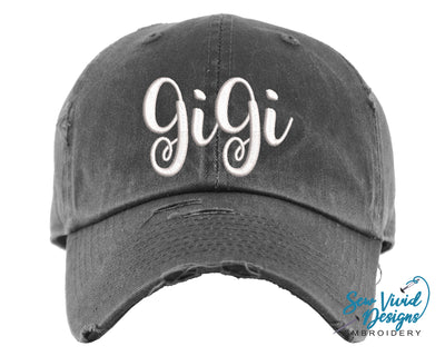 GiGi Hat | Baseball Cap OR Ponytail Hat - Sew Vivid Designs