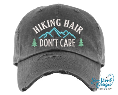 Hiking Hair Don't Care Hat baseball cap for hike