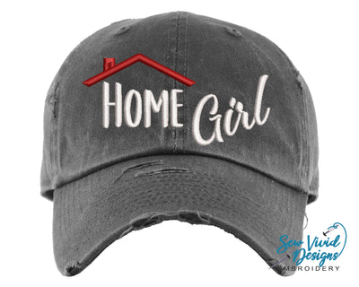 Home Girl Hat | Baseball Cap OR Ponytail Hat - Sew Vivid Designs